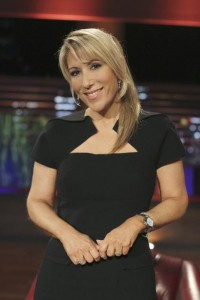 Lori Greiner on the set of Shark Tank